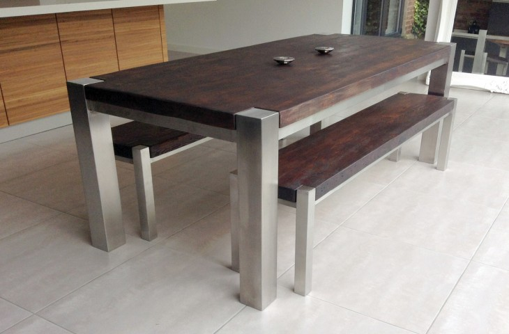 Mac+Wood Trunk Table and Side Benches
