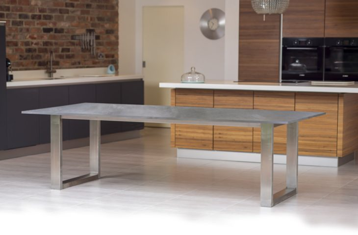 Mac+Wood Signature table with Zinc top