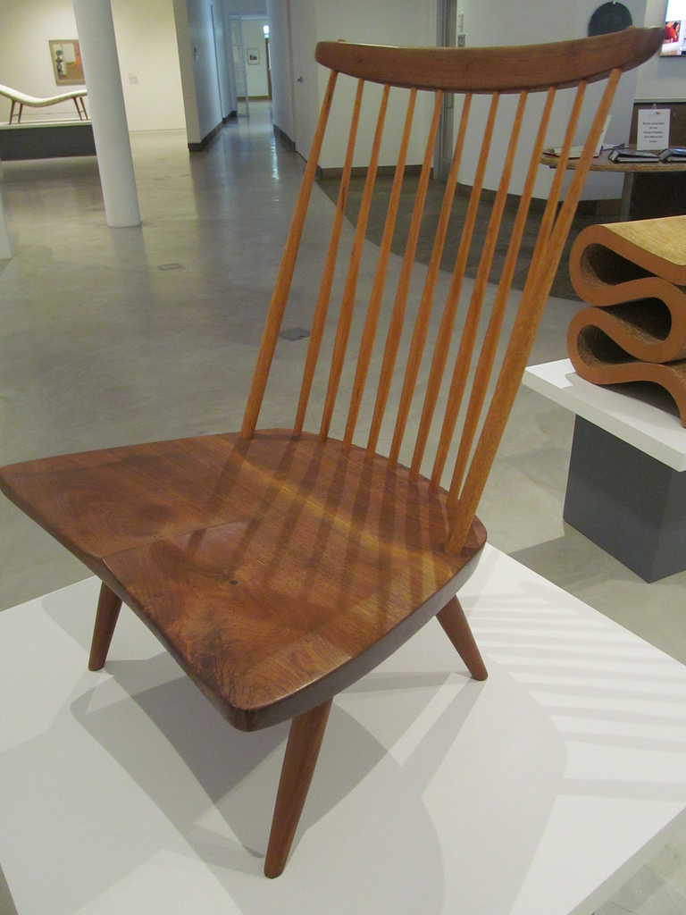 New lounge chair in American black walnut by Nakashima