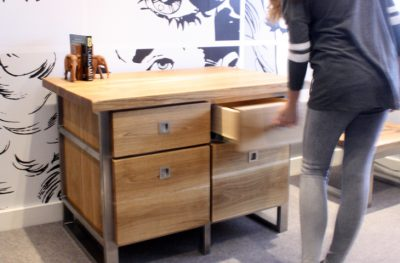 Mac+Wood Drawer Unit from reclaimed wood and steel