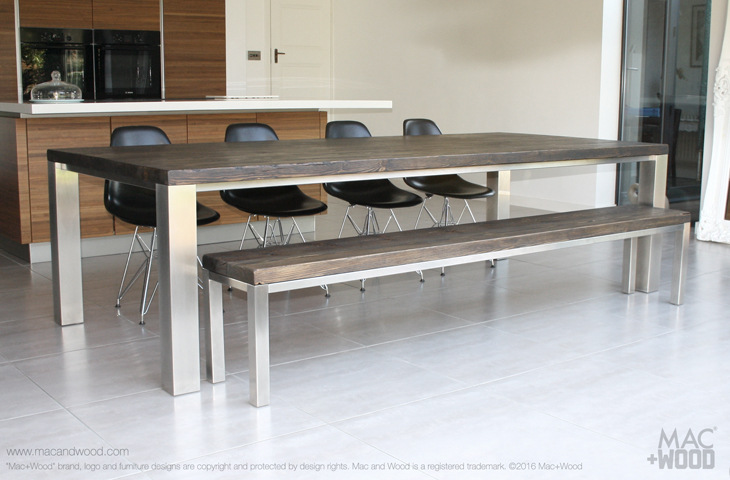 The family table by mac wood the family focused for Long contemporary dining tables