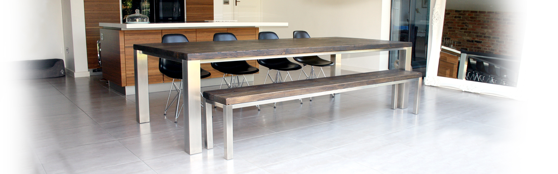 Mac+Wood Family dining table and matching bench