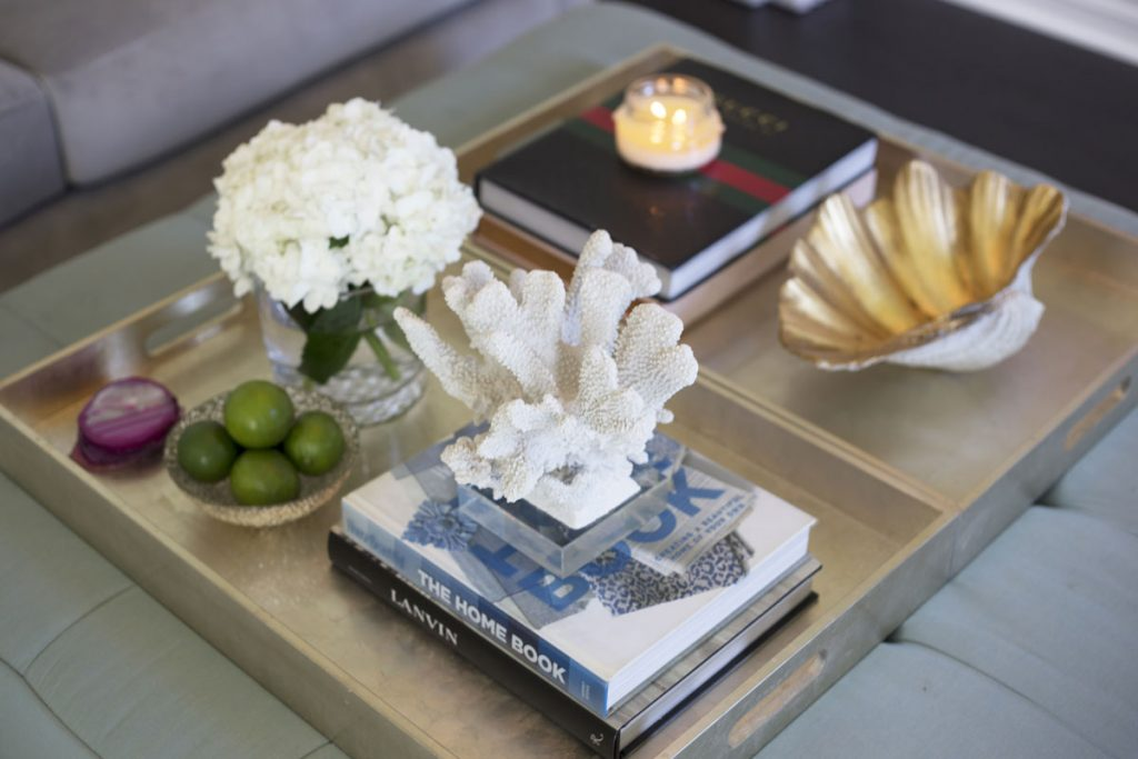 A contemporary coffee table arrangement for the stylish home