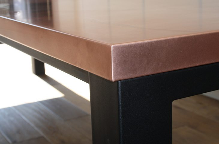 Natural Copper table top by Mac+Wood
