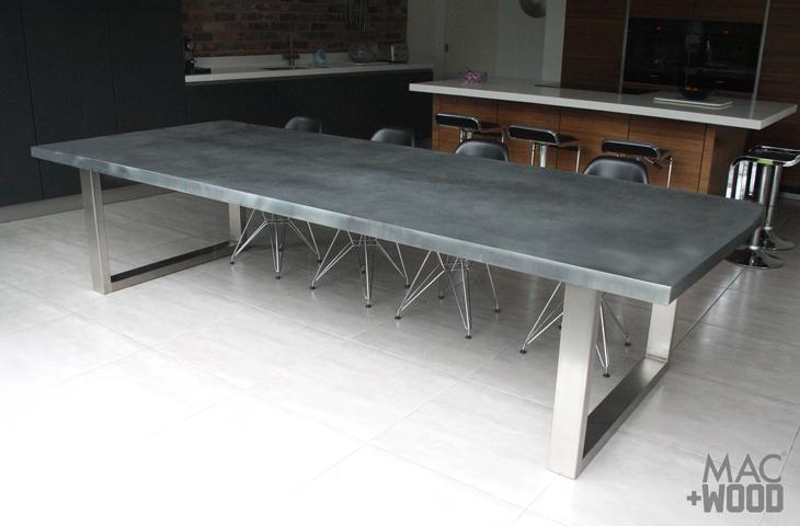 Contemporary Zinc Furniture Zinc Tables Zinc Top