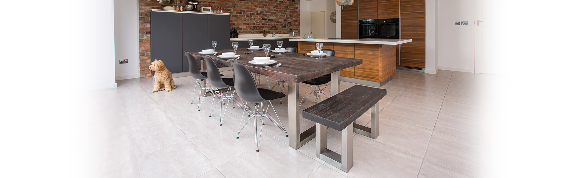 Large reclaimed wood table and bench |Contemporary Furniture