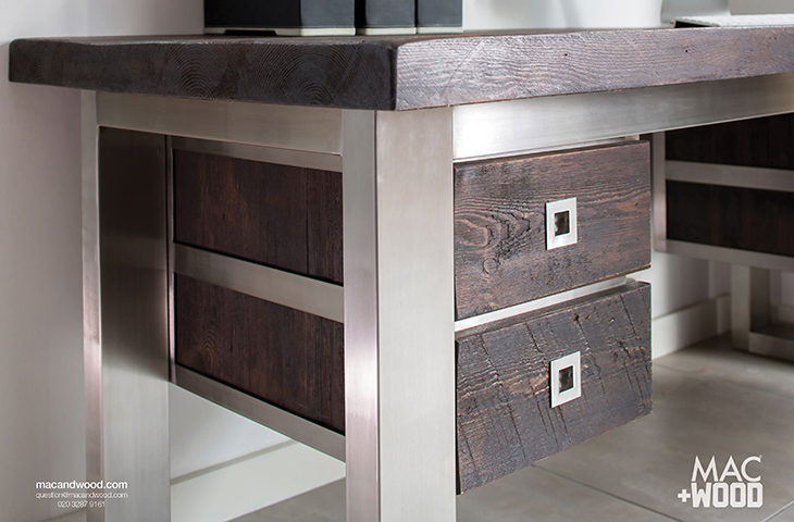 wood desks home office. Contemporary Office Desks. Reclaimed Wood And Steel Desk Desks Home