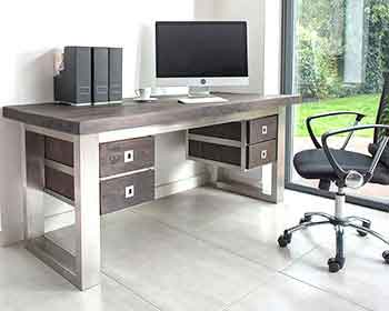 wooden office desks. Beautiful Desks Macandwoodmodernofficedesk Intended Wooden Office Desks