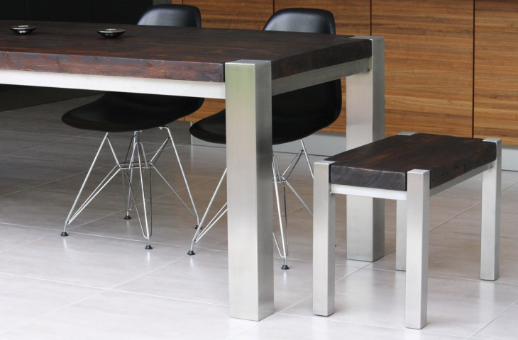 Mac+Wood Trunk Table chairs and end bench