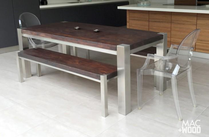 Mac+Wood Trunk Table Set