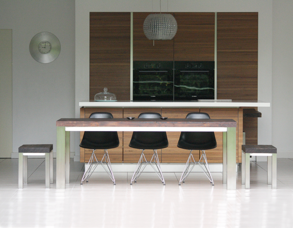 Wood and Steel Dining Table by Mac+Wood