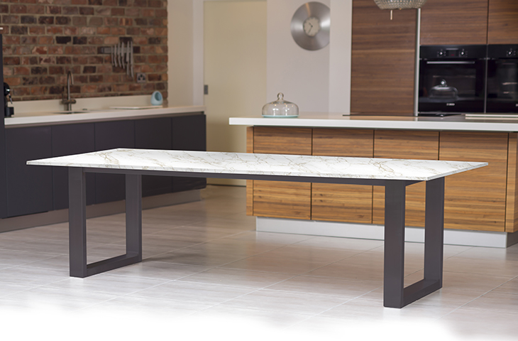 High Kitchen Table With Benches