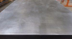 Zinc light patine close up