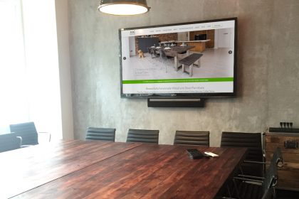mac and wood meeting room table