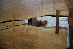 Looking through a Nakashima table top