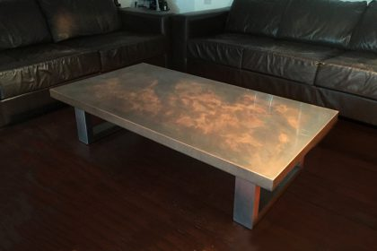 Copper Coffee Table by Mac+Wood
