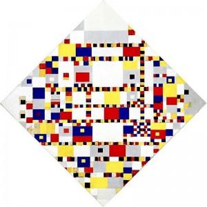 Victory Boogie Woogie by Piet Mondrian.