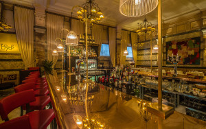 Plush furnishings and natural copper surfaces in Boyds Grill & Wine Bar, London