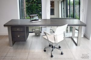 Mac+Wood Grey Desk and draws
