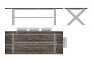 Cross frame table