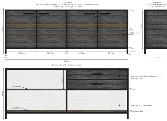 Mac+Wood Sideboard plan