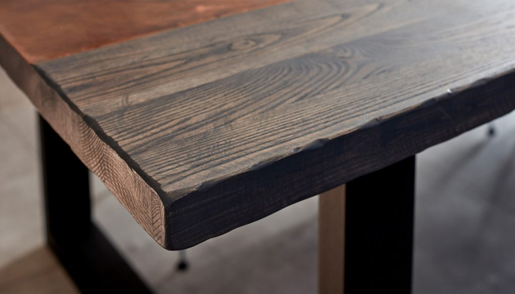 Ash with Aged Copper inlay by Mac+Wood