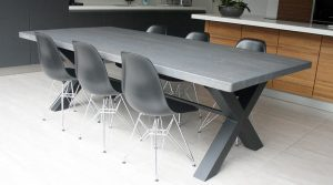 Mac&Wood Cross table with grey finish