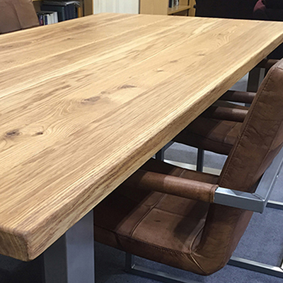 Oak raw finish table