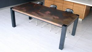 Trunk Table Copper Distressed