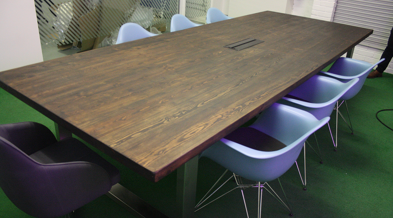 Reclaimed wood boardroom tables